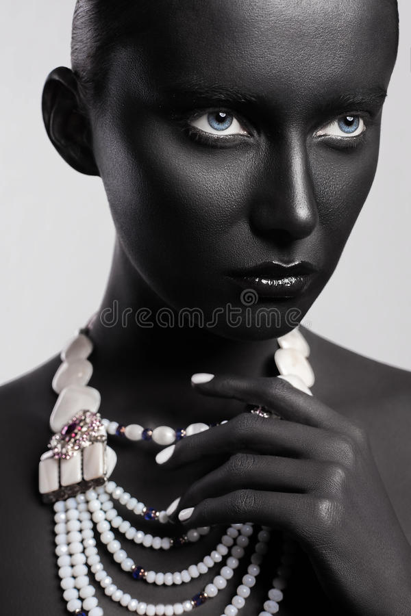 Hautecouture-Schönheitsart Gesicht Art stockfoto