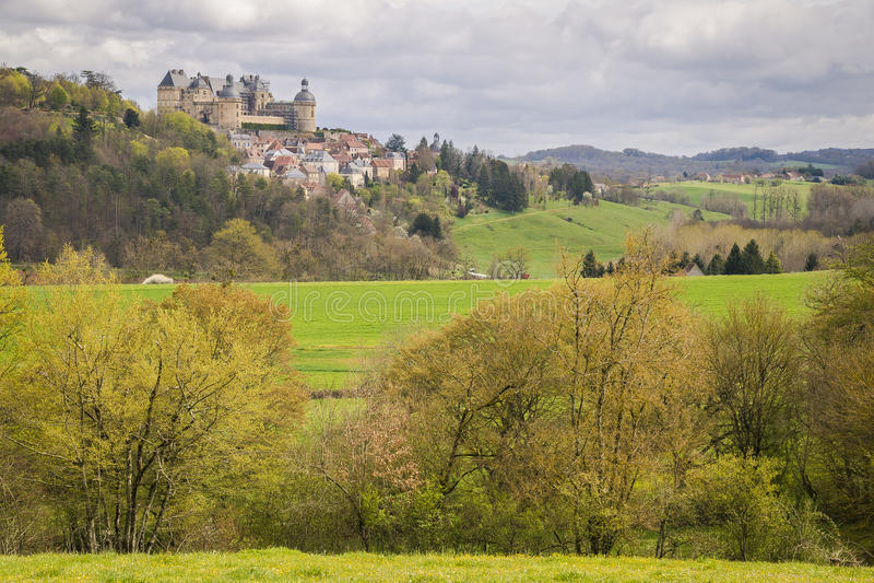 Hautefort, França imagens de stock royalty free