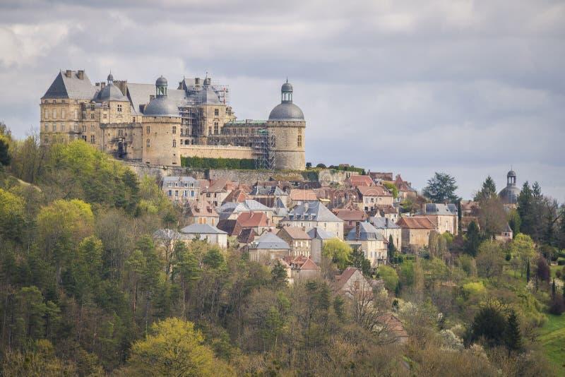 Hautefort, França imagem de stock