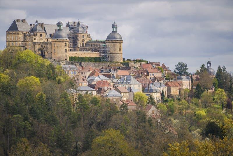 Hautefort, Frankrijk royalty-vrije stock foto's