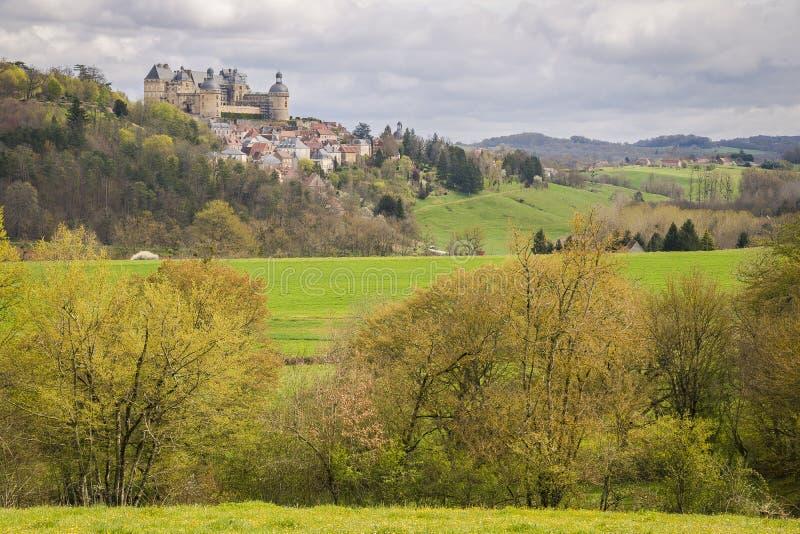 Hautefort, Frankrijk royalty-vrije stock afbeeldingen