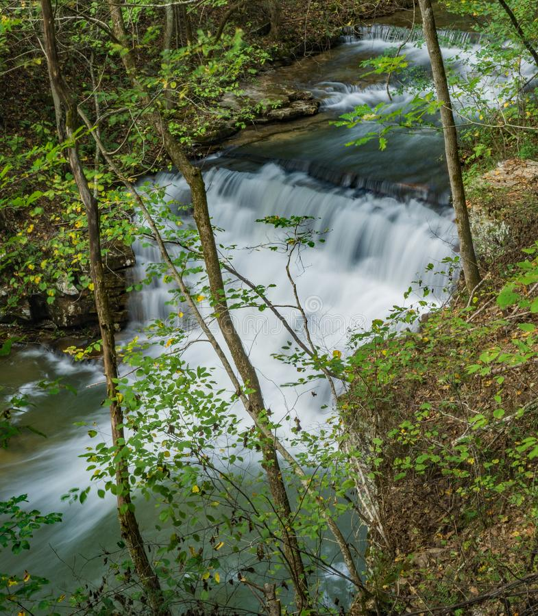 Hautes eaux à la cascade de mines de Fenwick - 3 images stock