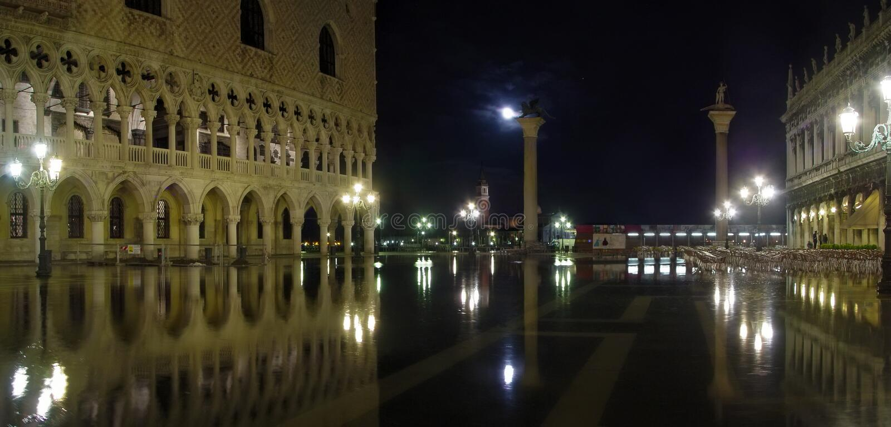 Hautes eaux à Venise photographie stock