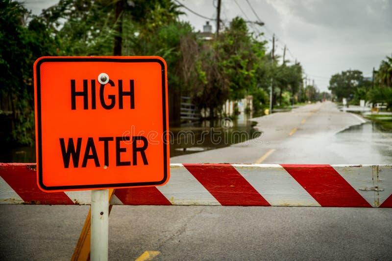 Hautes eaux, rues inondées photo libre de droits