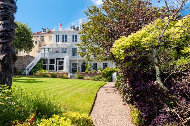 Hauteville dom w świętego Peter porcie, Guernsey, channel islands, UK fotografia royalty free