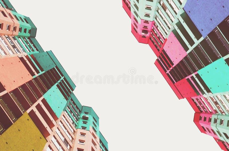 Hauts bâtiments de la ville photographie stock libre de droits
