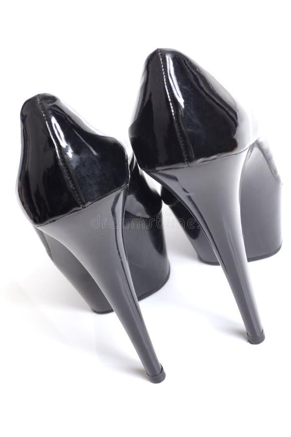 Hauts talons de stylet noir sexy du dos images libres de droits