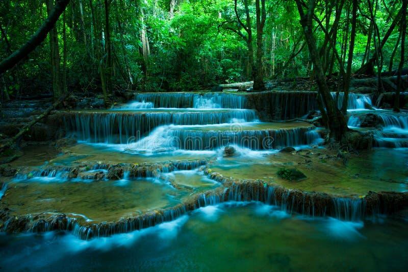 Hauy mae kamin waterfalls in kanchaburi thailand stock images