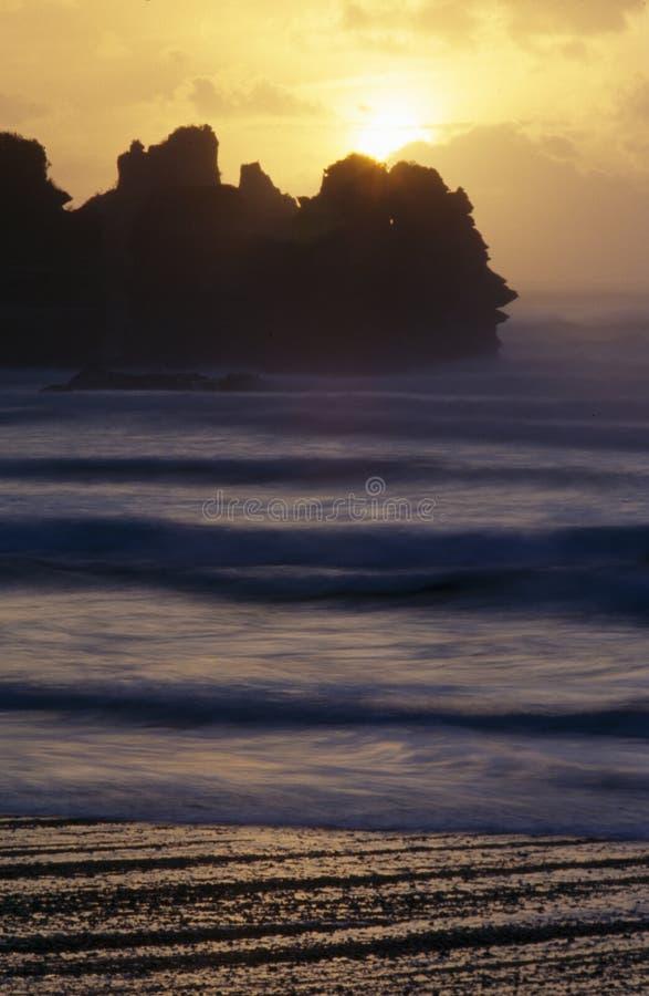 hav över sunsetting fotografering för bildbyråer