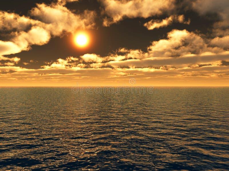 Download Hav ηλιοβασίλεμα απεικόνιση αποθεμάτων. εικονογραφία από δώστε - 2232206