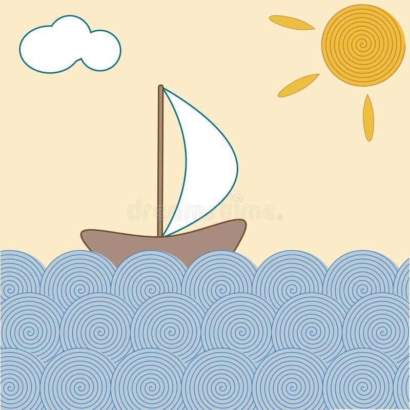 hav stock illustrationer