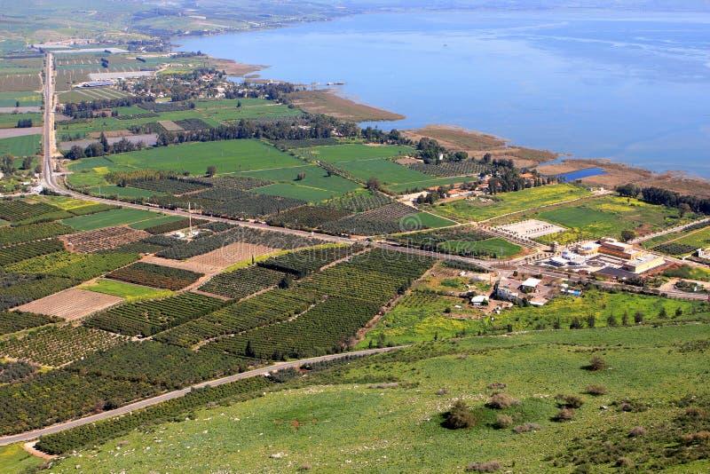 Hav av Galilee, Israel arkivfoton