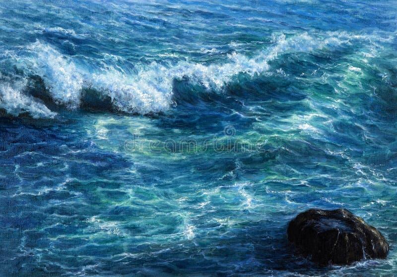 Hav- eller havsvågor royaltyfria foton