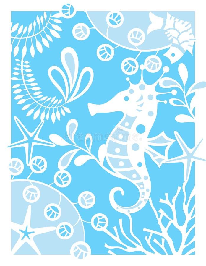 hav för hästlivstidsflotta royaltyfri illustrationer