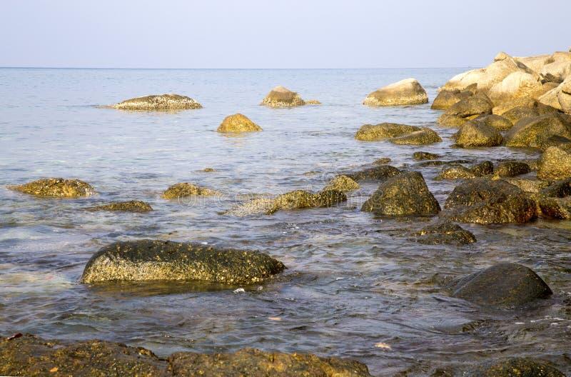 hav för strandvandringsledpir till arkivfoto