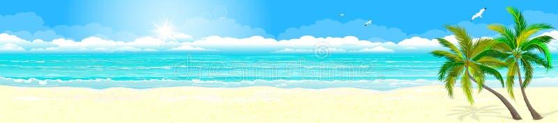 Hav för tropikernasandstrand royaltyfri illustrationer
