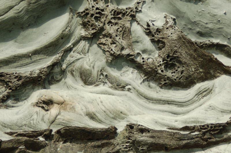 Hav huggen klippa i de Shetland öarna royaltyfri foto
