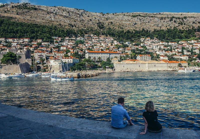 Hav i Dubrovnik royaltyfri bild