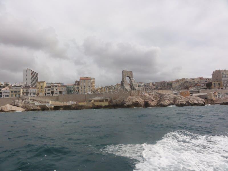Hav i Marseille - Frankrike arkivbild