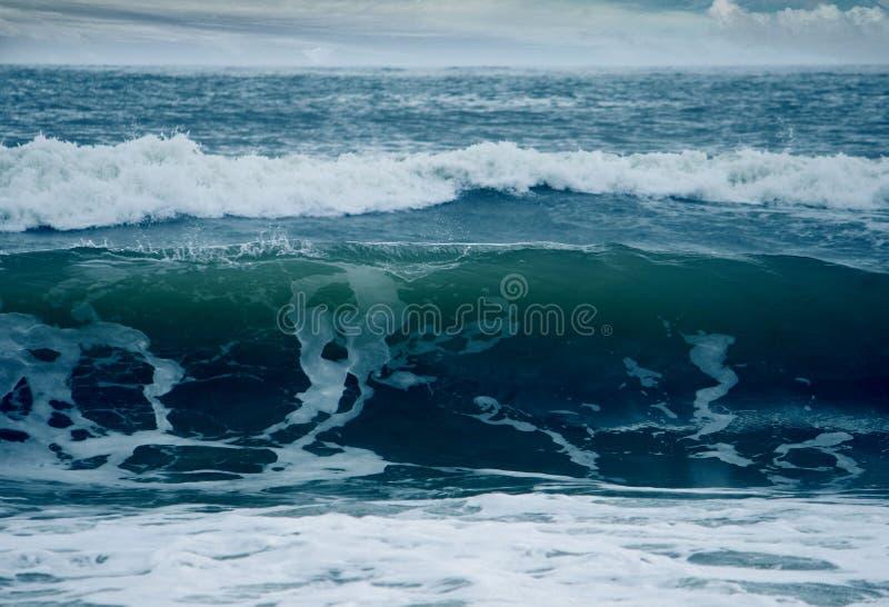 Hav med blåttfärg arkivbilder