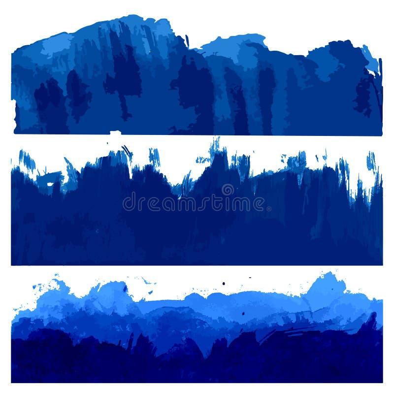 Hav- och havsvågillustration royaltyfri illustrationer