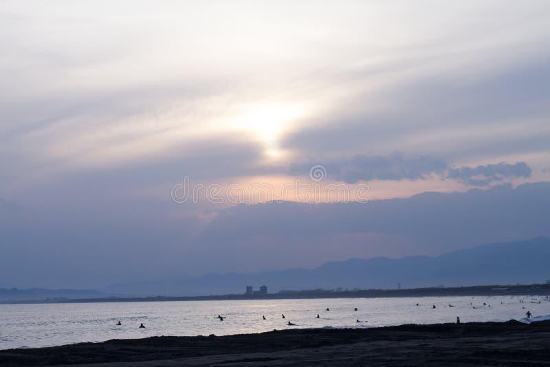Hav- och himmellandskap arkivfoto