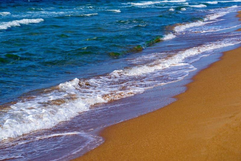 Hav och kust- landskap arkivbild