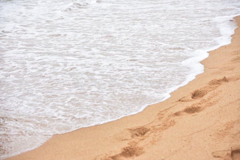 Hav och sander arkivfoto
