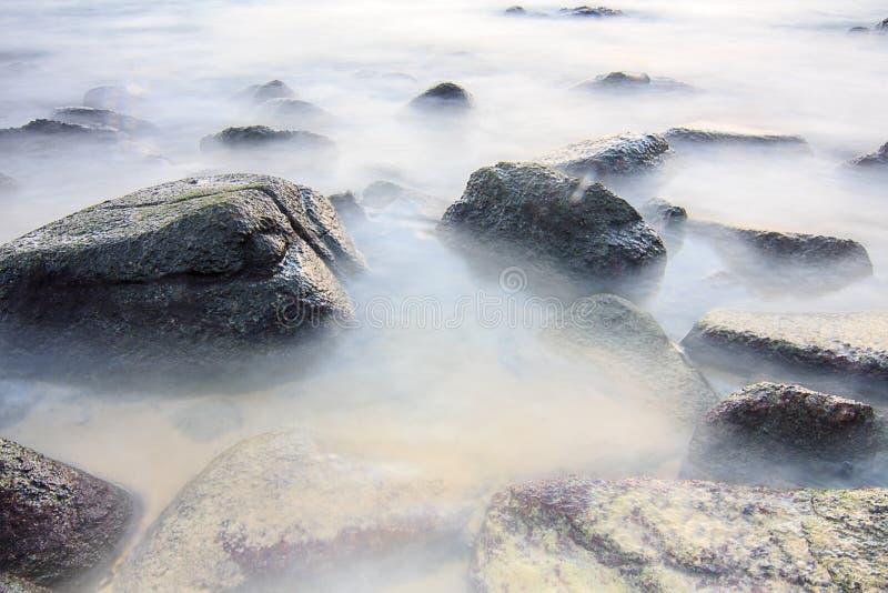 Hav som är slätt på vagga arkivbild