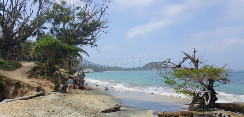 Hav, strand och slinga royaltyfri fotografi