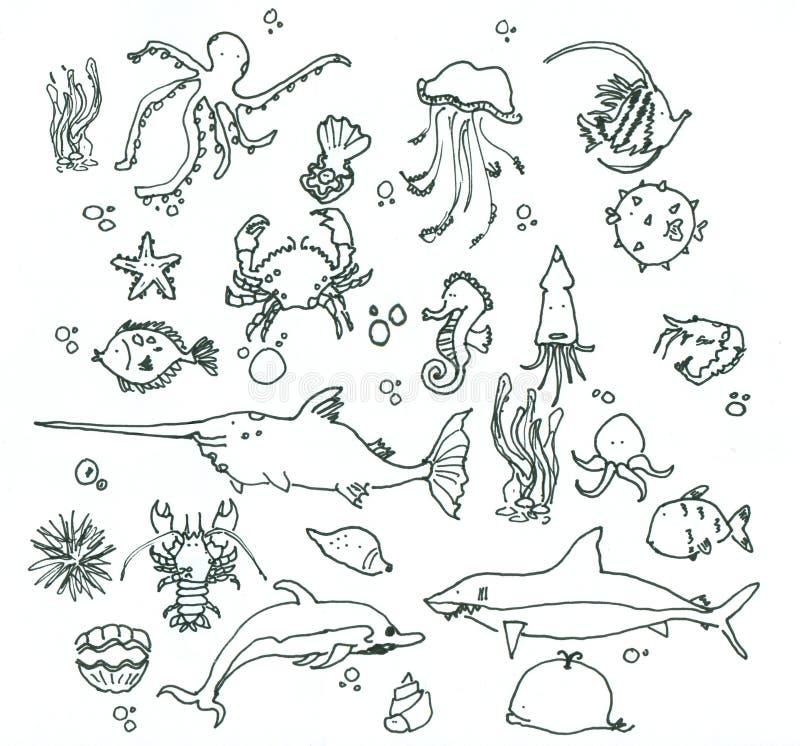 hav under royaltyfri illustrationer