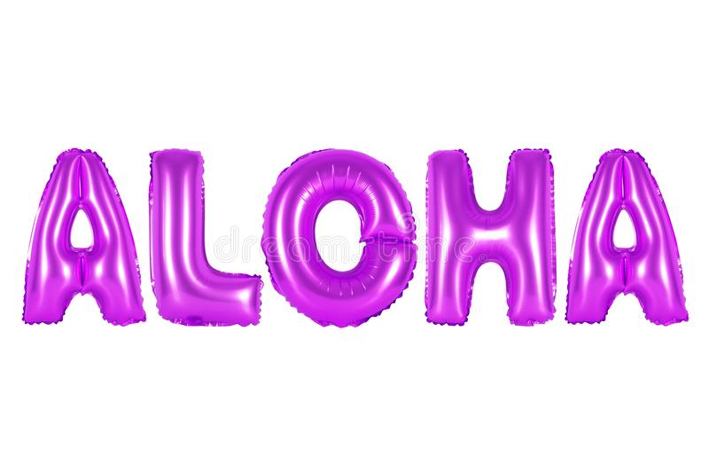 Havaí, Aloha, cor roxa fotografia de stock