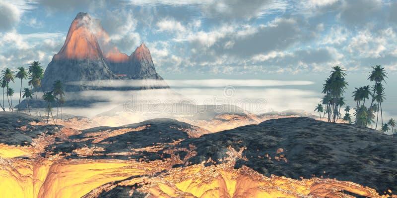 Havaí Lava Fields ilustração do vetor