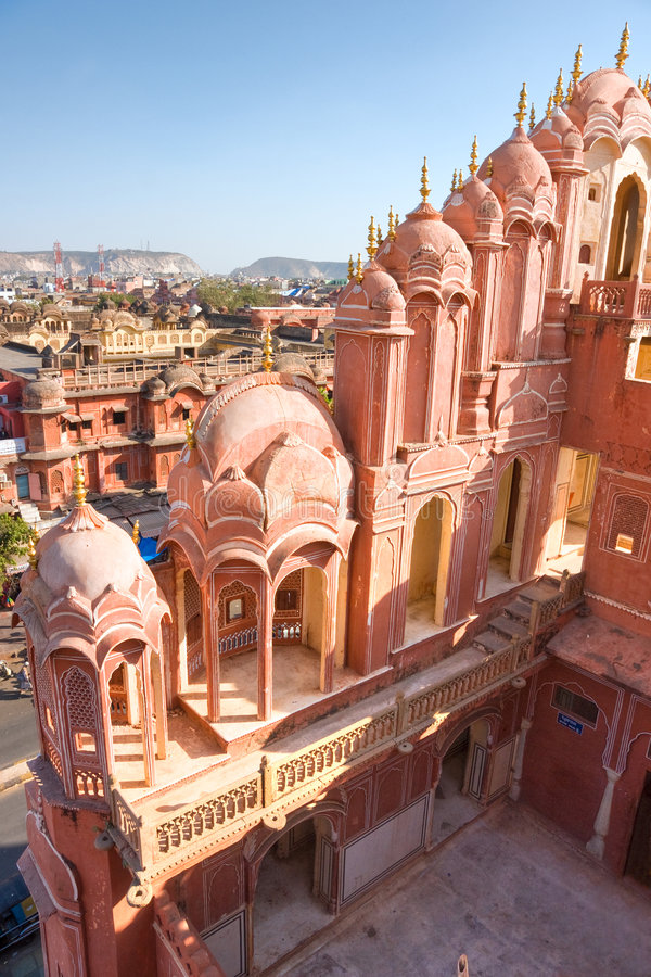 hava ind Jaipur mahal obrazy stock