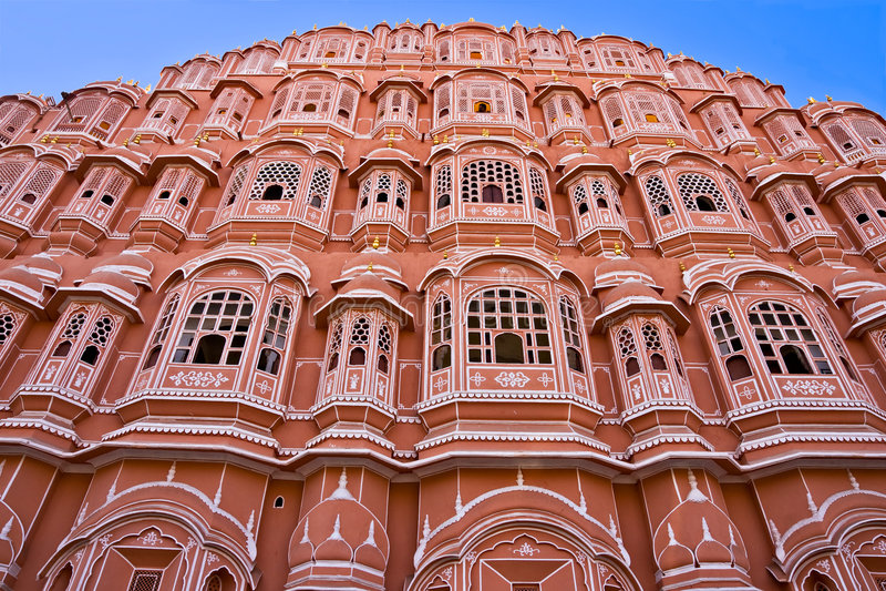 Hava mahal, Jaipur, India. stock photo