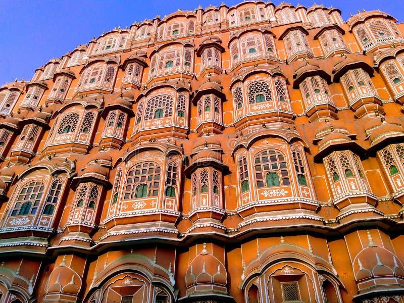 Hava Mahal, Jaipur, Ragiastan fotografia stock