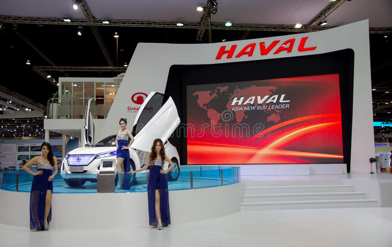 Haval SUVs ny modell som framläggas i motorisk show arkivfoton