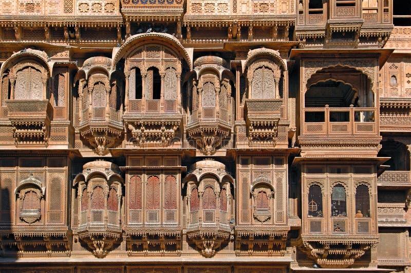 havali房子印度jaisalmer拉贾斯坦 库存图片