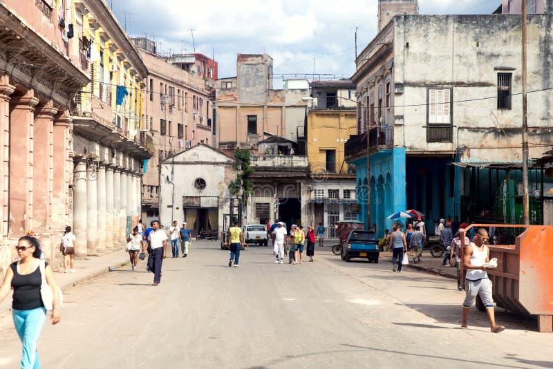 HAVANA 30. DEZEMBER: Straße im alten Teil des Stadt 3. Dezember stockbilder