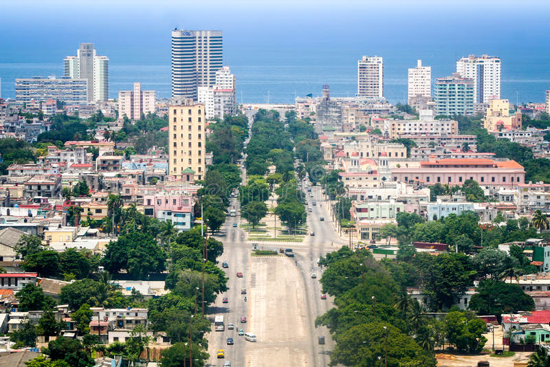 Havana, aerial royalty free stock photo