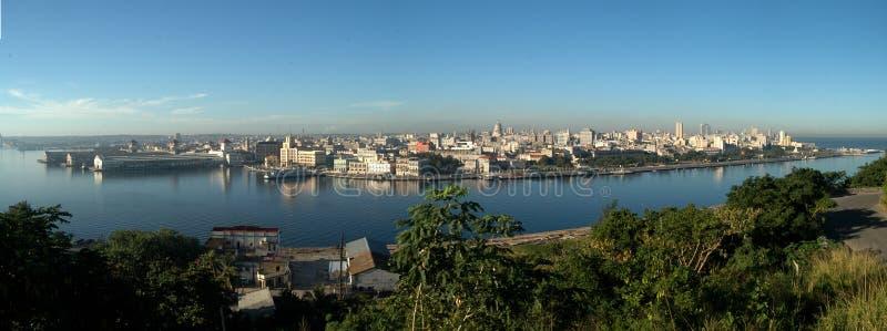 Havana Bay-Umgebungen, morgens gesehen Zeit lizenzfreies stockbild