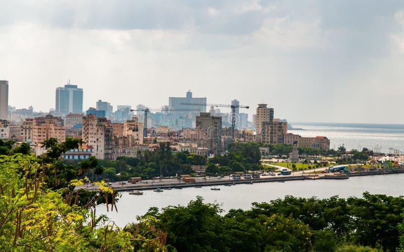 Havana Bay-Umgebungen, morgens gesehen Zeit stockbilder