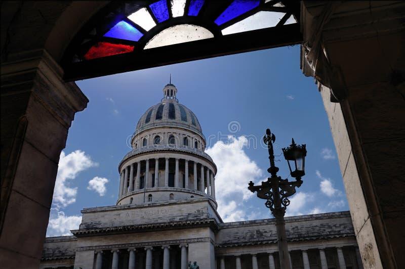 Havana-capitoly Ansicht stockbilder