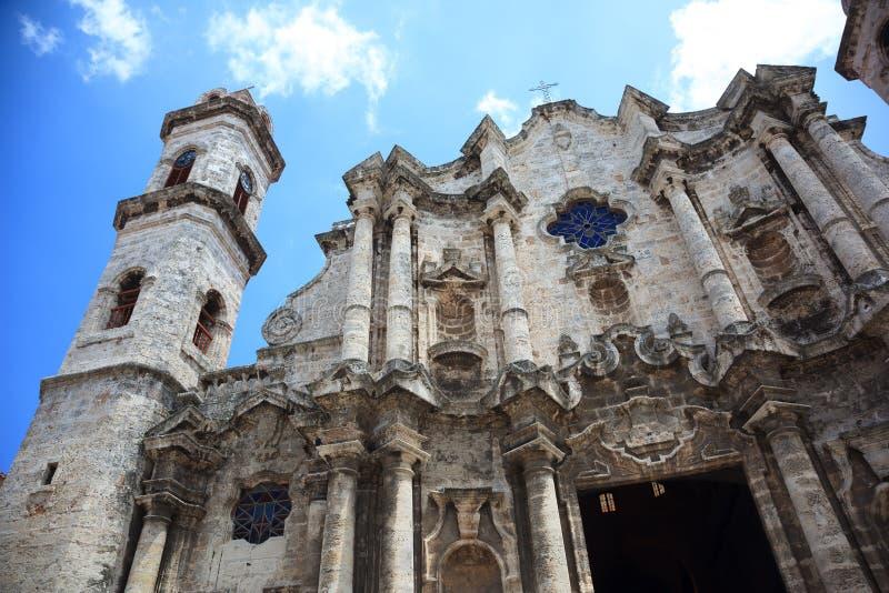 Havana Cathedral stock afbeelding