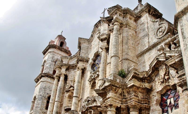 Havana Cathedral royalty-vrije stock foto