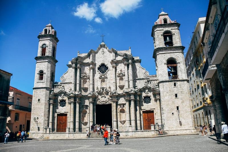 Havana Cathedral is one of eleven Catholic cathedrals on the island. Havana Cathedral is one of eleven Catholic cathedrals on the island in Havana, Cuba royalty free stock image