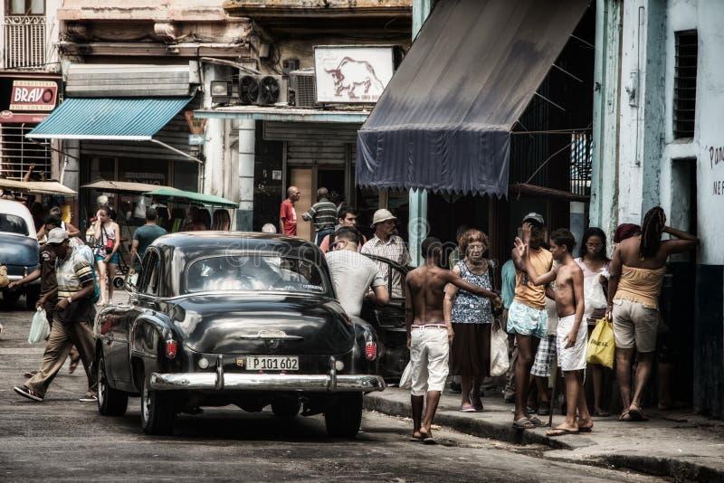 Havana Classic Black Car Cuba fotos de stock royalty free