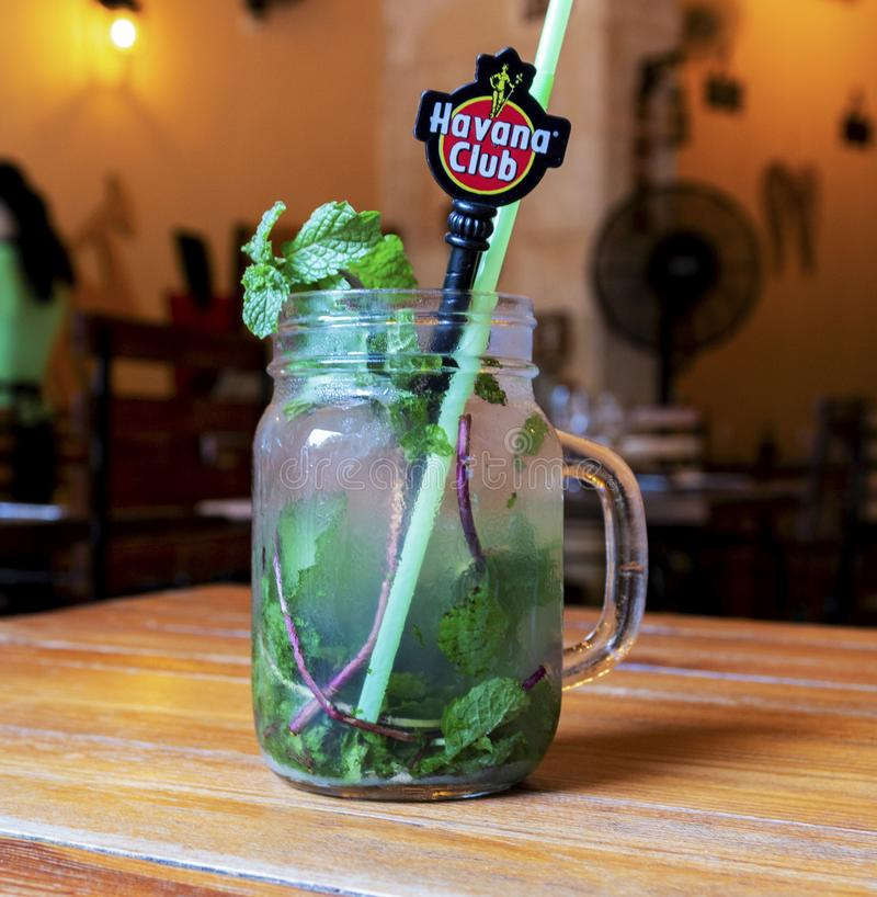 Havana Club Rum Mojito fotografia stock libera da diritti