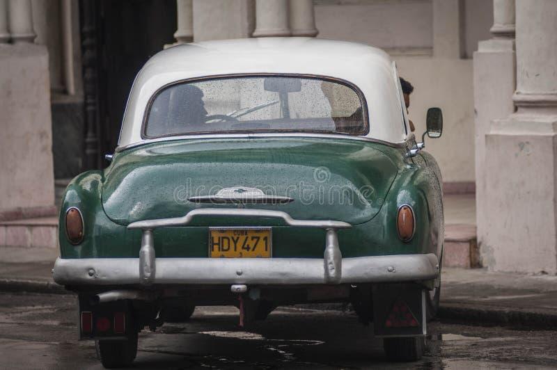 HAVANA/CUBA 2006年7月4日-在街道的老美国汽车  免版税图库摄影