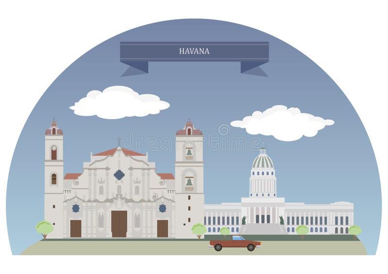 Havana, Cuba ilustração do vetor